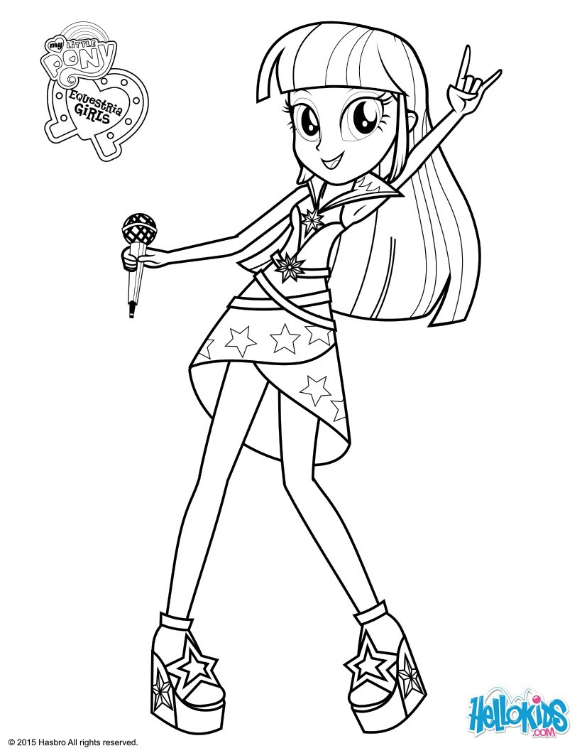 820x1060 Equestria Girls Coloring Pages