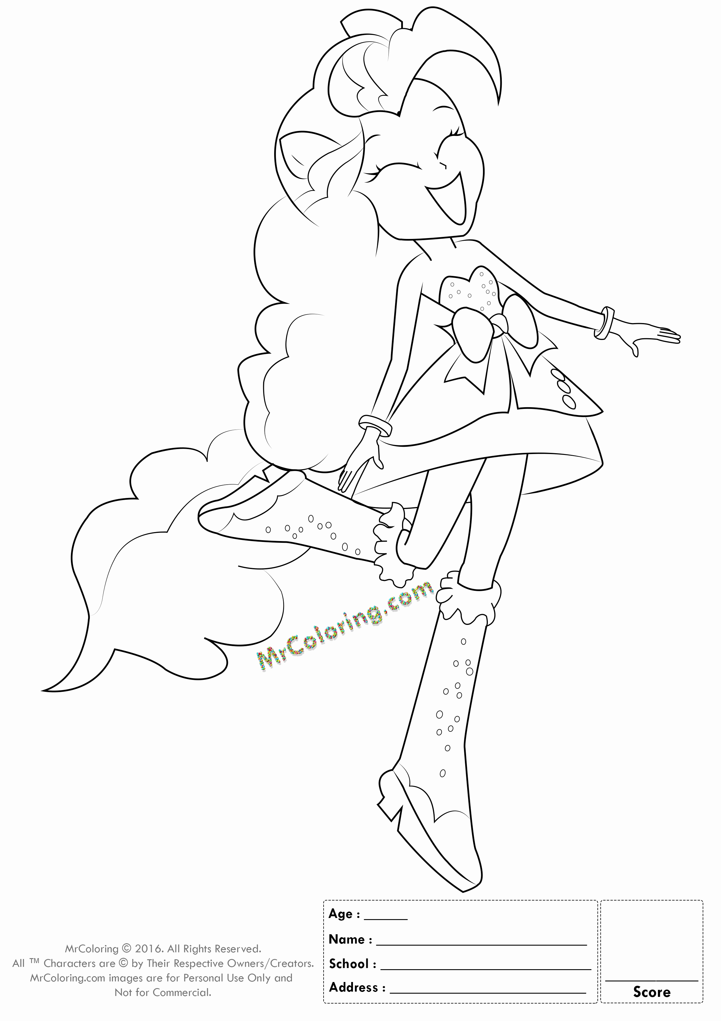 Equestria Girls Coloring Pages At Getdrawings Free Download