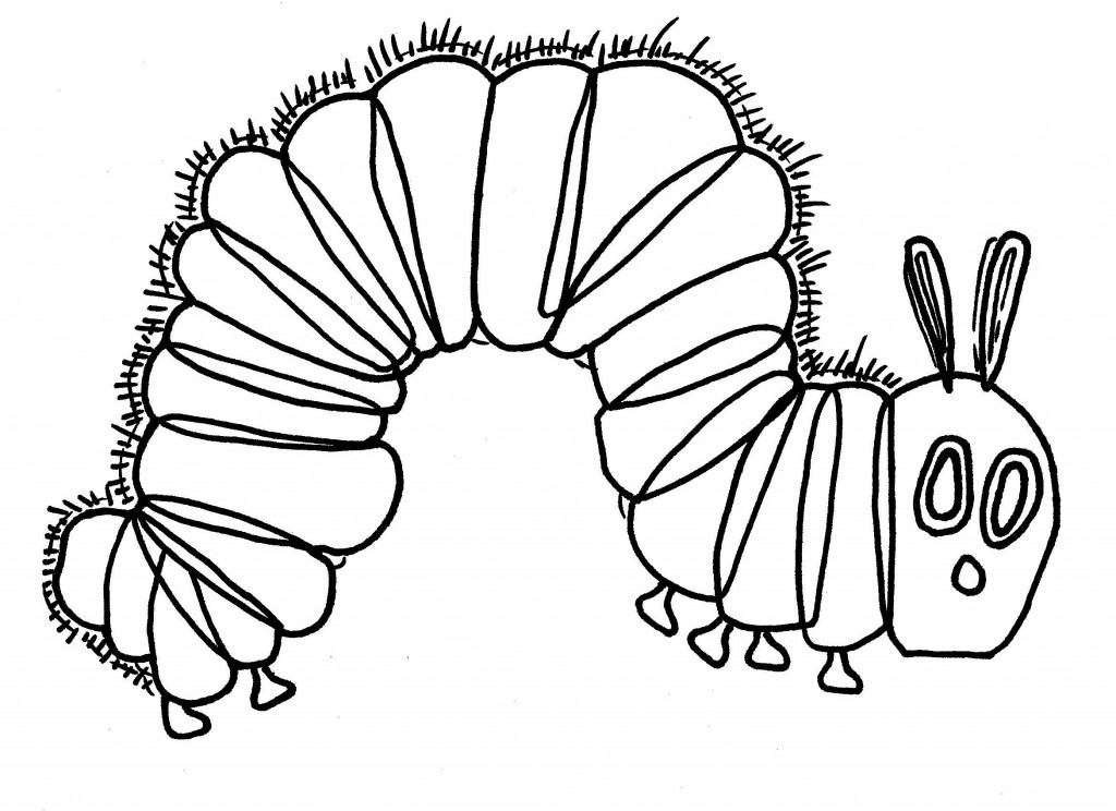 1024x744 Very Hungry Caterpillar Coloring Pages Very Hungry Caterpillar