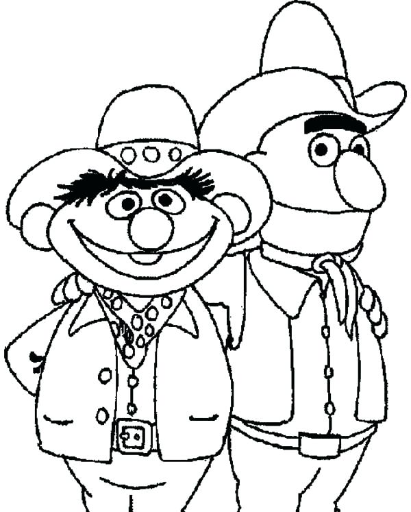 Ernie And Bert Coloring Pages At Getdrawings Com Free For Personal