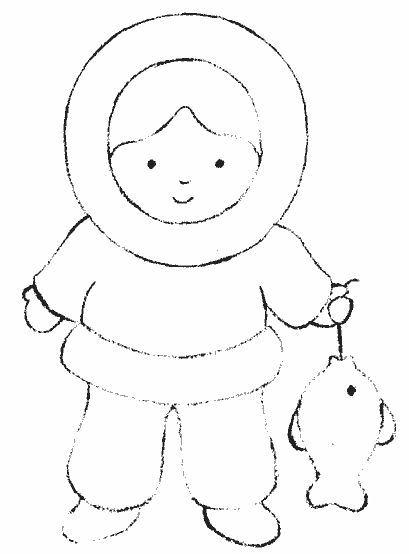 Eskimo Coloring Pages