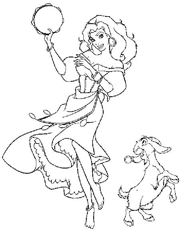 Esmeralda Coloring Pages