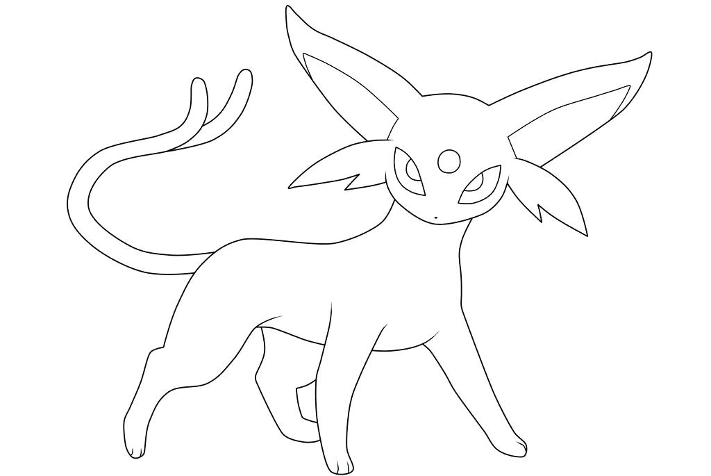 1024x685 Espeon Coloring Pages Umbreon And Espeon Coloring Pages Unique