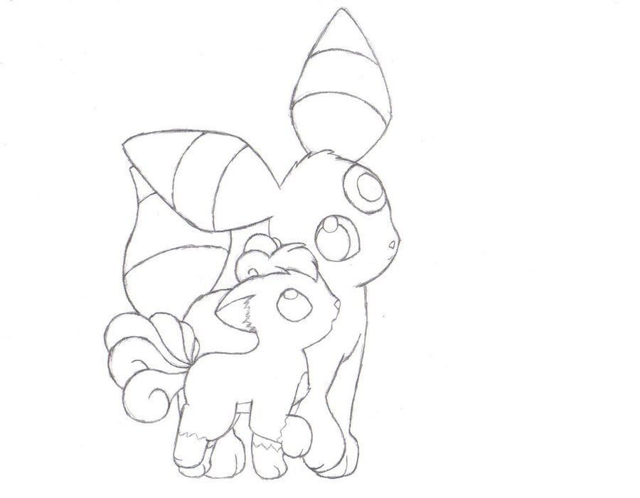 900x701 Umbreon Coloring Page