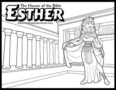 Esther Bible Coloring Pages at GetDrawings.com | Free for ...