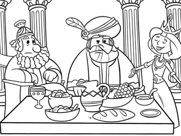 Bible Coloring Queen Esther Coloring Pages - colouring mermaid