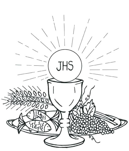 Free First Holy Communion Coloring Pages, Download Free Clip Art ... | 599x510