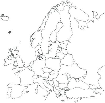 400x392 Europe Map Coloring Page Map Coloring Map Coloring Pages