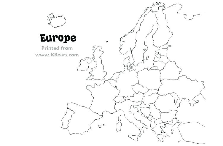 Europe Map Coloring Page At Getdrawings Com Free For Personal Use