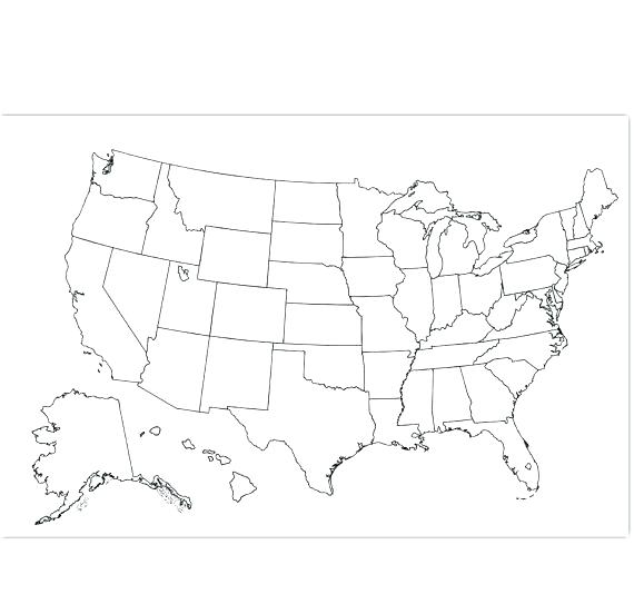 570x552 Us Map Coloring Page Also Epic Map Of Coloring Page Fee Outline