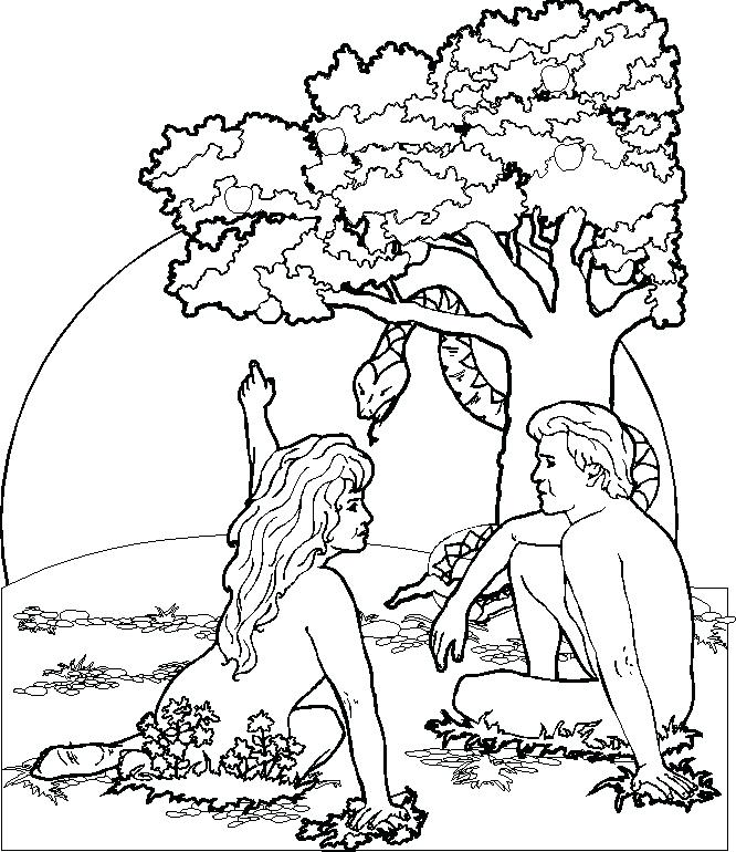 666x770 Adam And Eve Colouring Page Printable And Eve Coloring Pages Adam