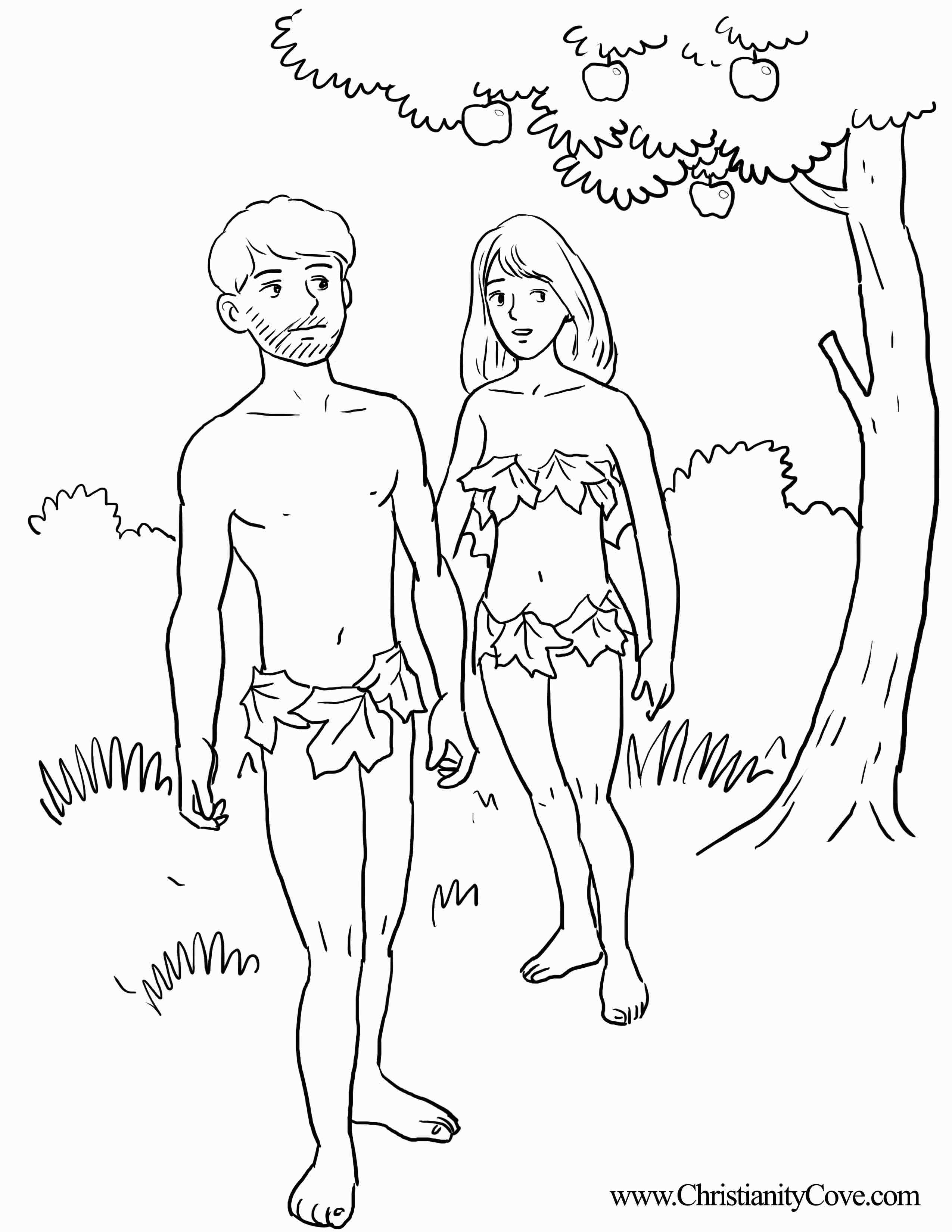 2550x3300 Adam And Eve Bible Coloring Pages Printable Gallery