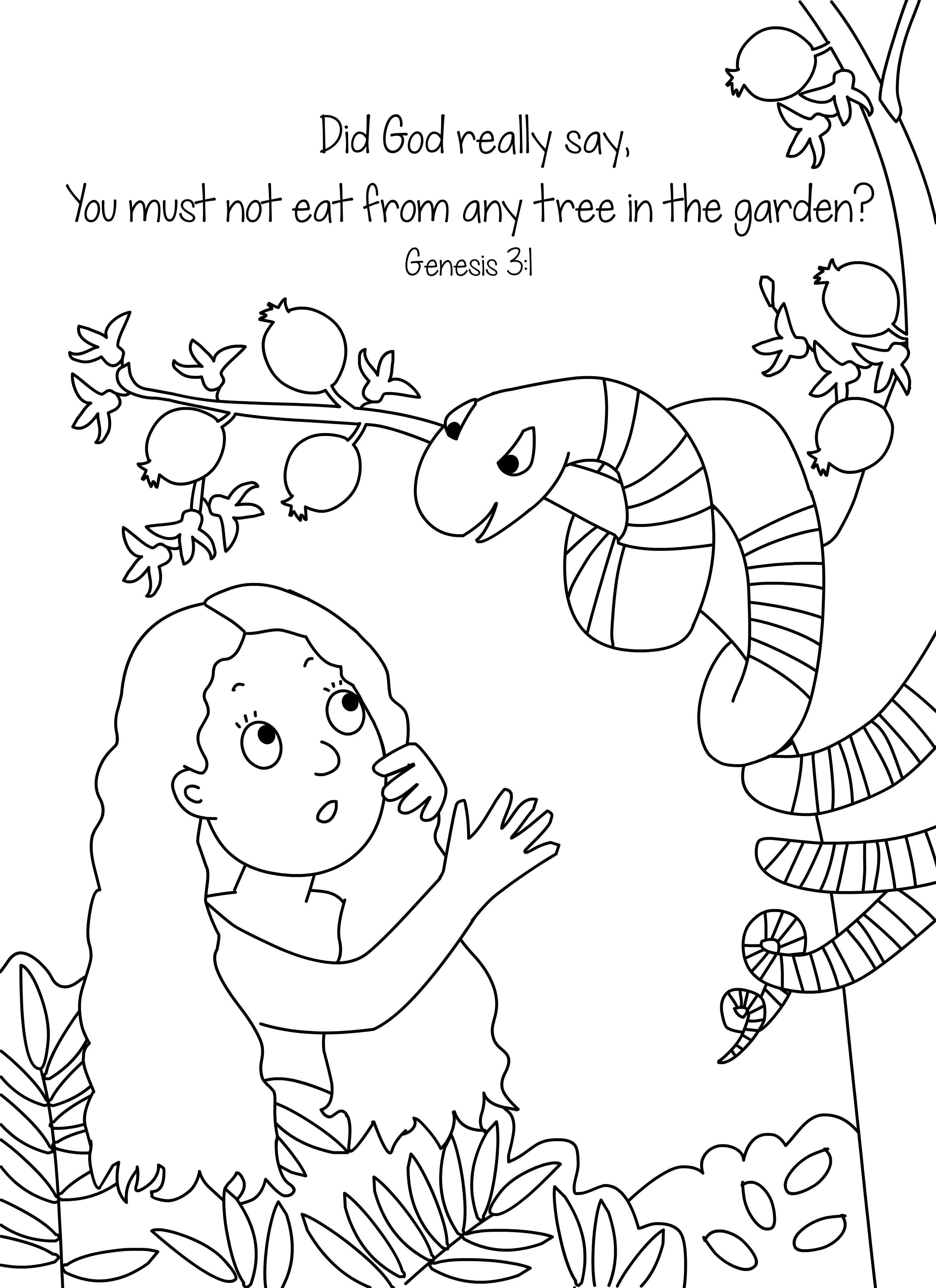 3028x4167 Amazing The Creation Coloring Pages For Children Days Of Kids