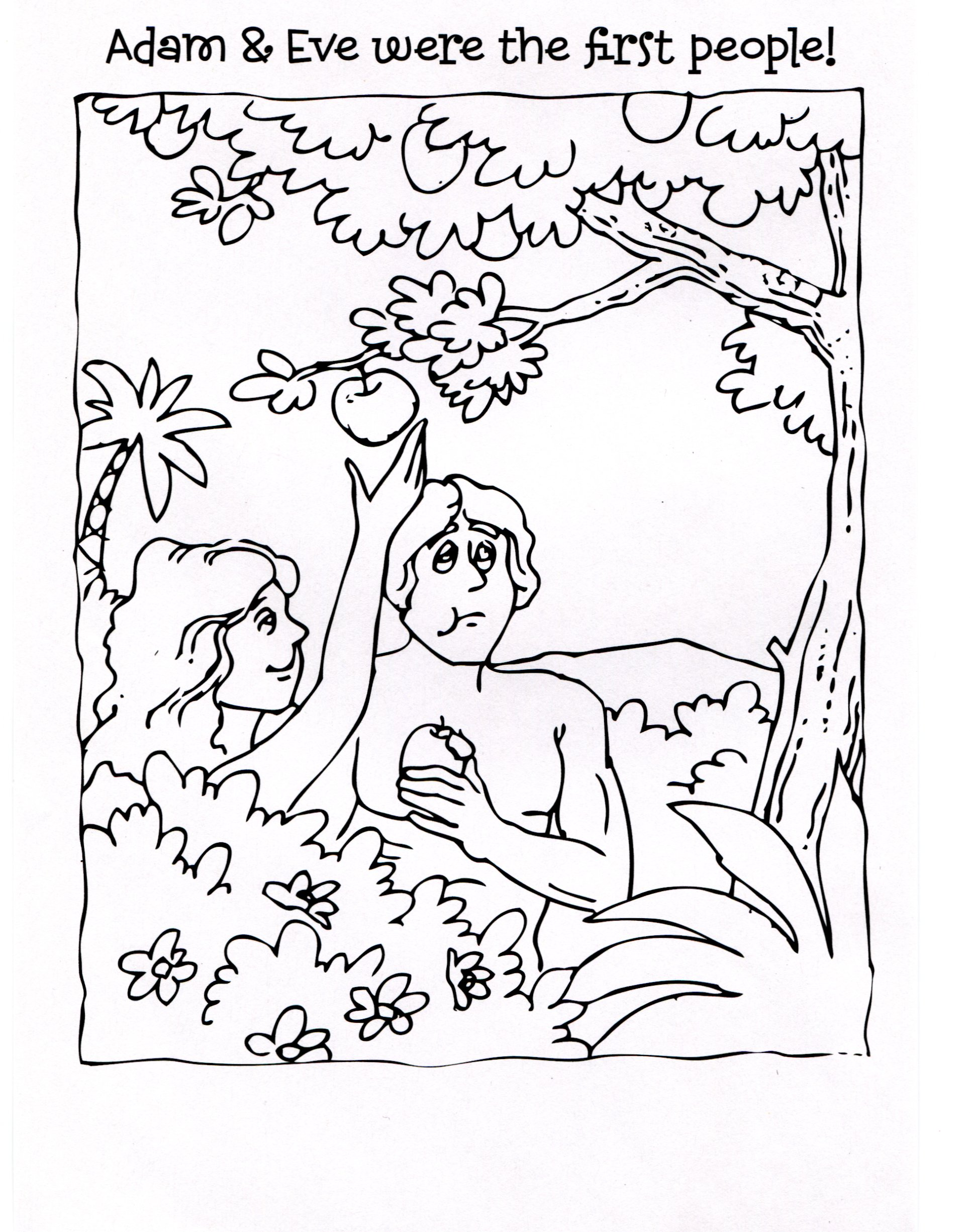 1930x2450 Beautiful Adam And Eve Coloring Page On Free Colouring Pages