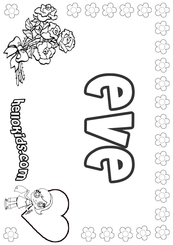 600x849 Eve Coloring Pages