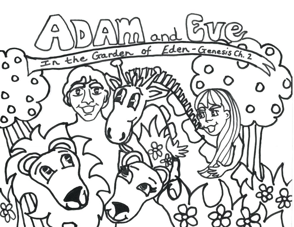 990x765 Pictures And Eve Coloring Page In Coloring Site With And Eve