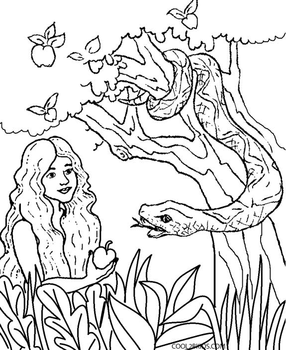 575x704 Printable Adam And Eve Coloring Pages For Kids