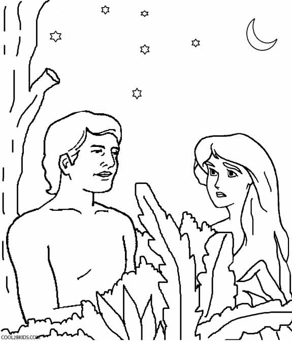 575x671 Adam And Eve Color Pages For Preschoolers Printable Adam And Eve