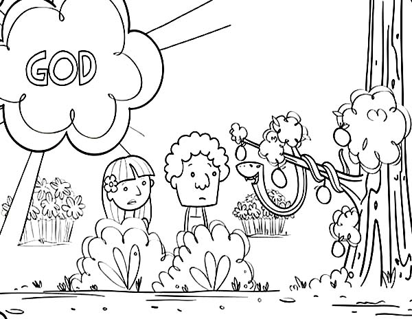 600x464 Adam And Eve Coloring Page Best Adam And Eve Coloring Page