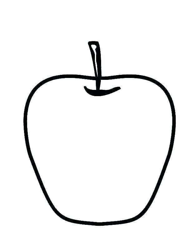 612x792 Coloring Page Of An Apple Apple Coloring Page Apple Coloring Pages