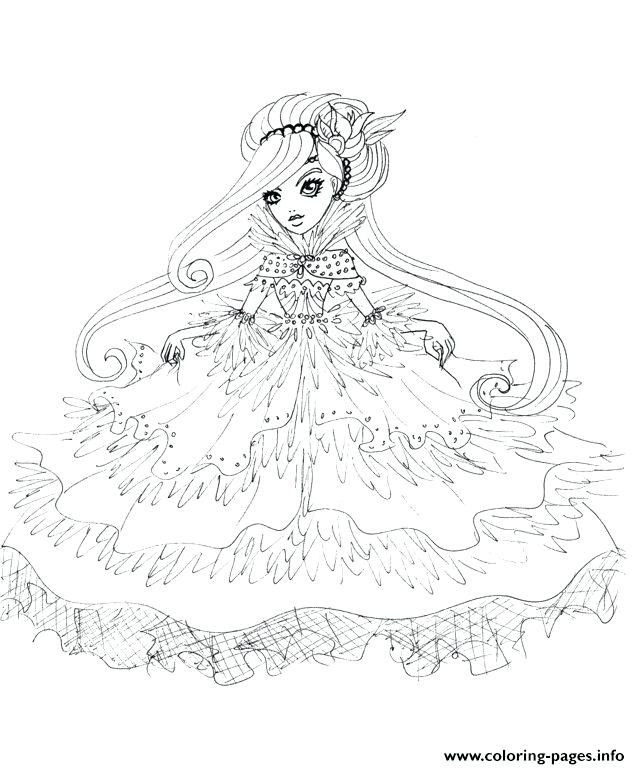 640x769 Duchessswan Ever After High Doll Coloring Pages Printable