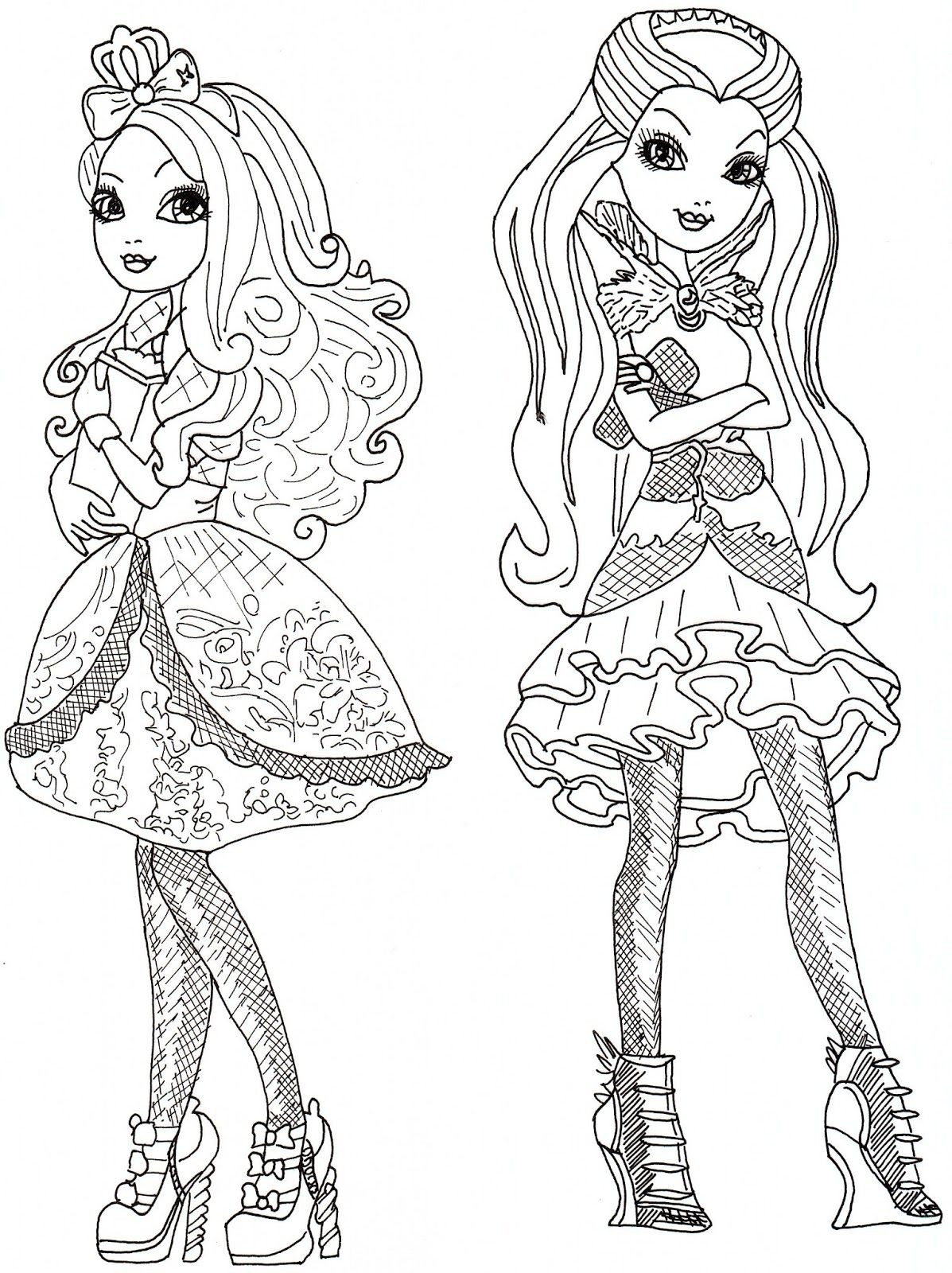 1197x1600 Ever After High Apple Coloring Page Free Printable Pages Pleasing