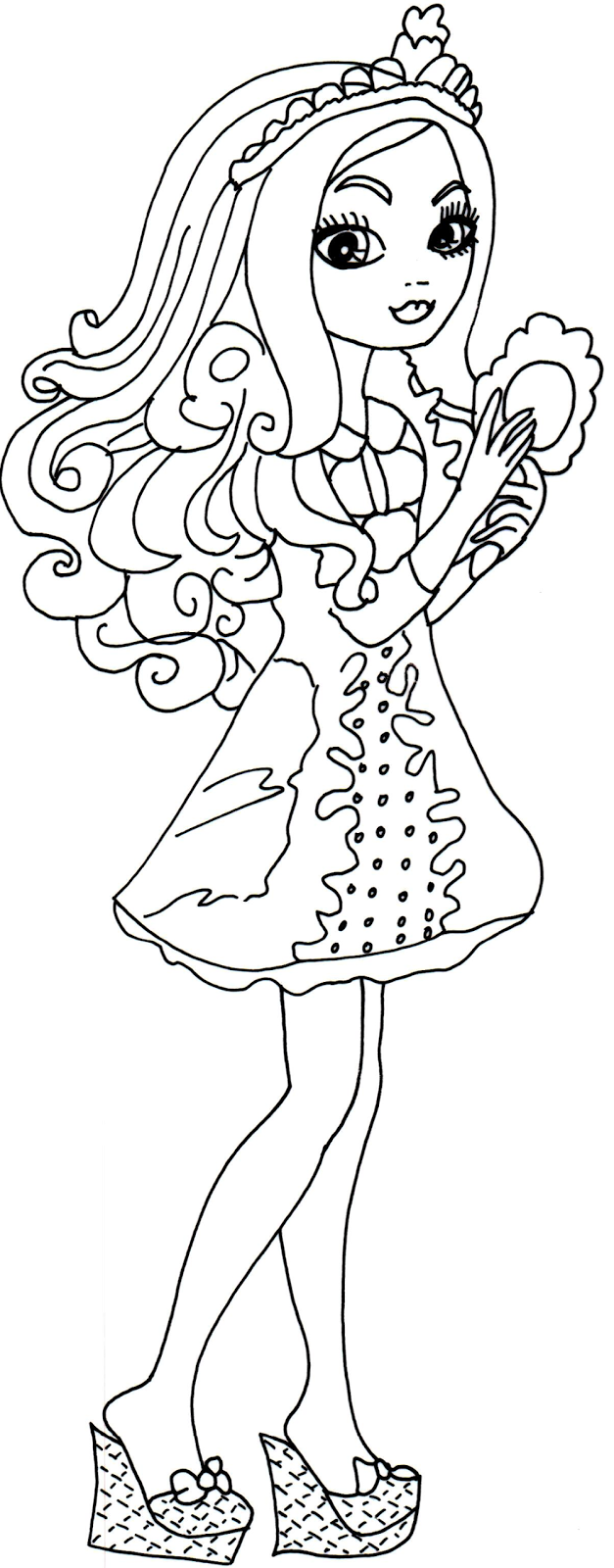 627x1600 Ever After High Apple White Coloring Pages