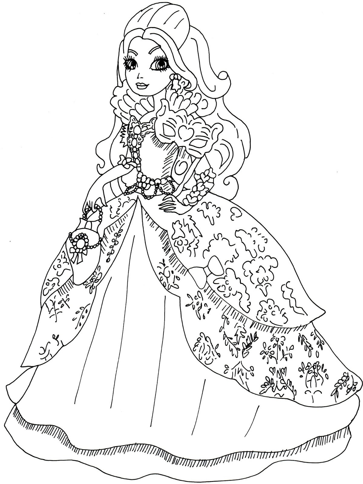 1200x1600 Ever After High Coloring Pages Apple White Bright Wagashiya