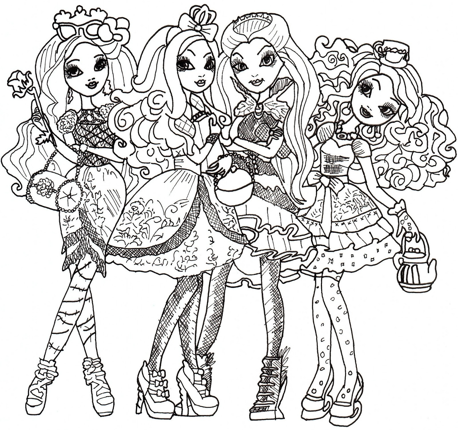 1600x1504 Apple White Coloring Page Ever After High Tearing Pages Acpra