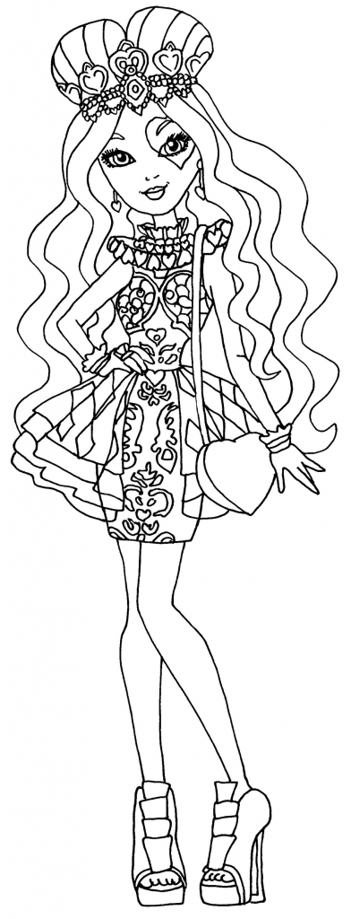 392x1024 Ever After High Free Printable Coloring Pages