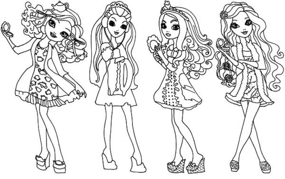 960x603 Ever After High Coloring Pages Inspirational Free Printable Ever
