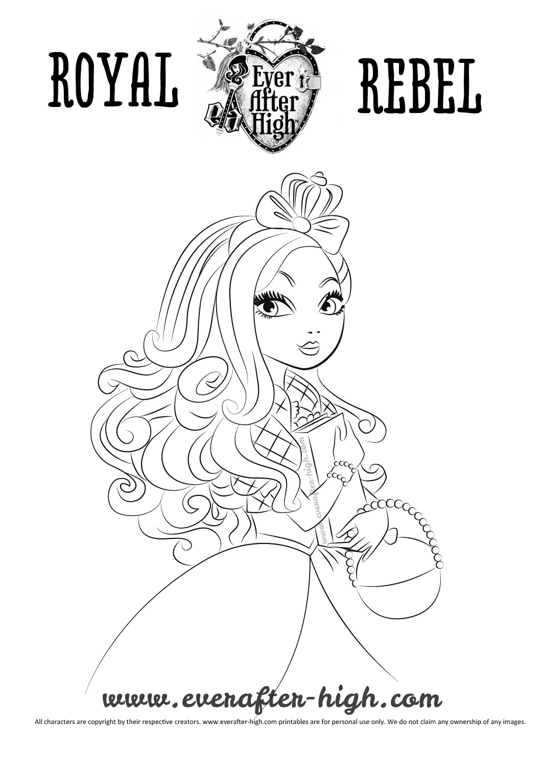 1063x1504 Apple White Coloring Page Ever After High