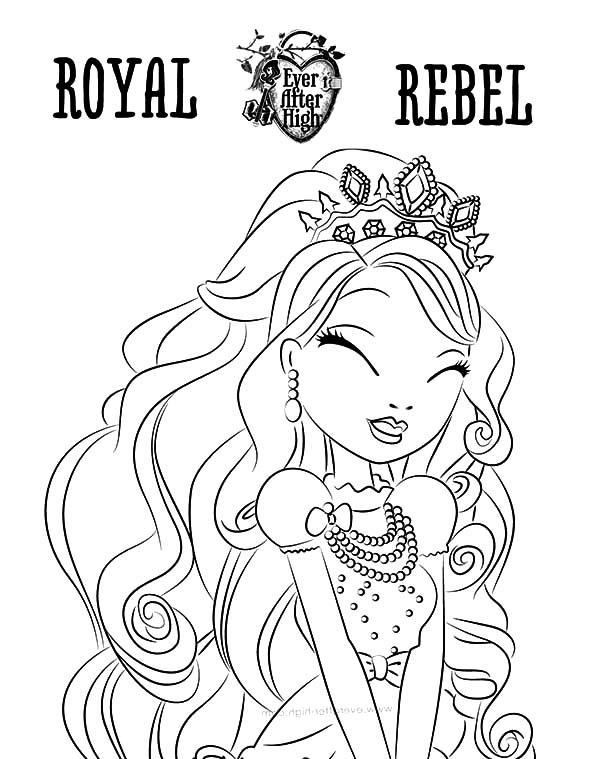 600x759 Ever After High Coloring Pages Bunny Blanc Fresh Royal Rebel