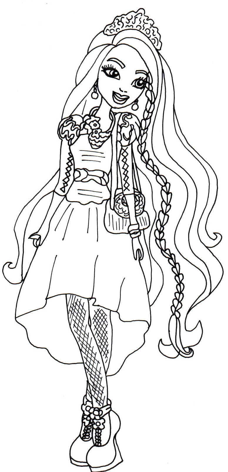776x1600 Ever After High Poppy O Hair Coloring Pages