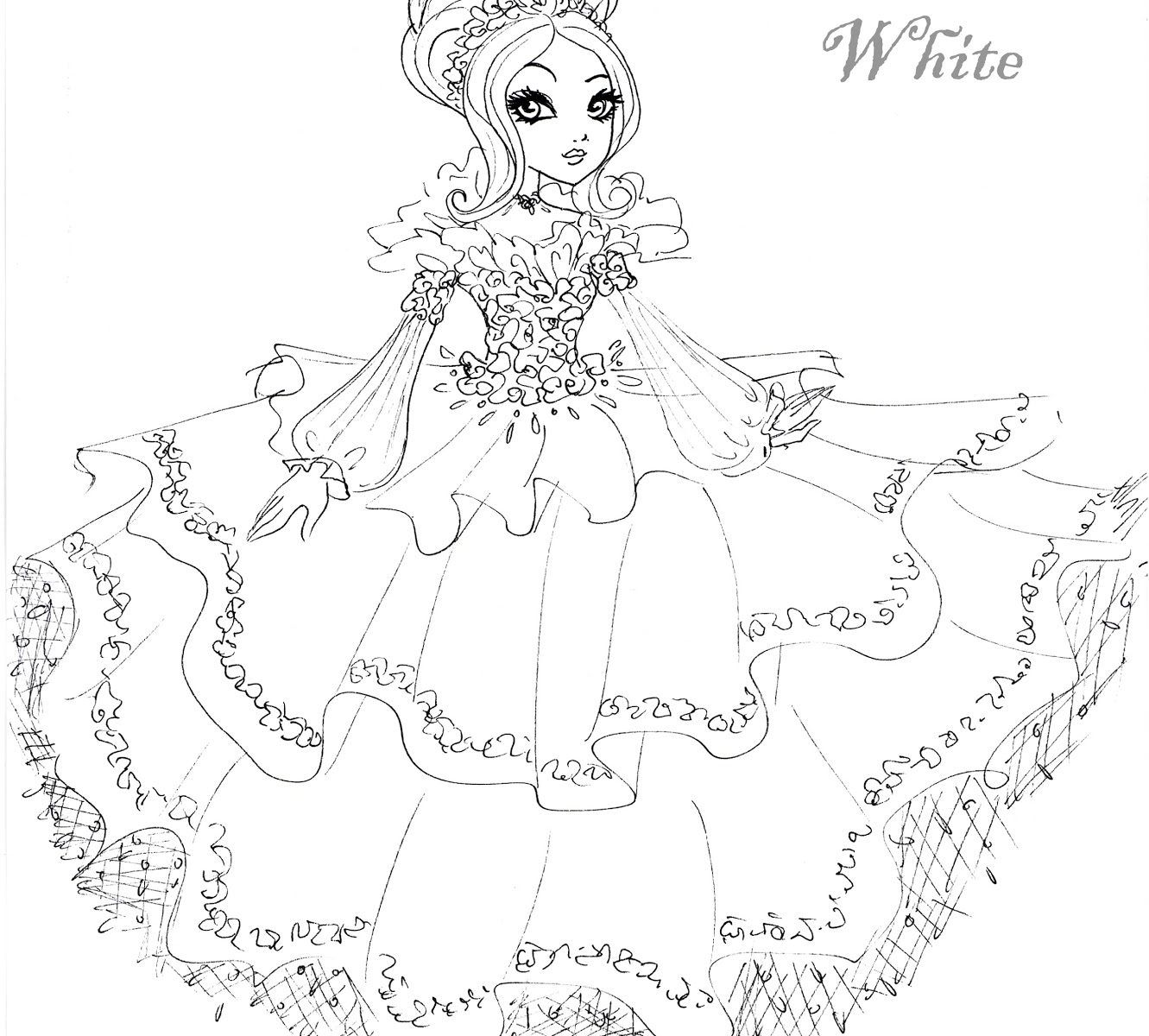 1331x1200 Fascinating Printable Ever After High Coloring Pages Briar Beauty