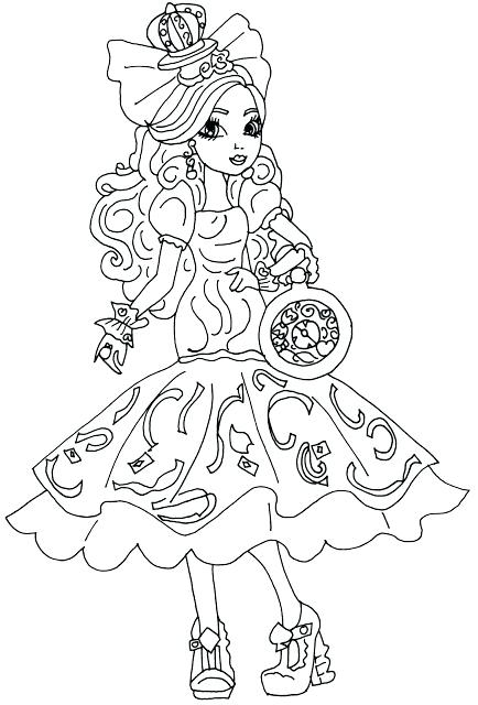 434x640 Free Printable Ever After High Coloring Pages Apple White