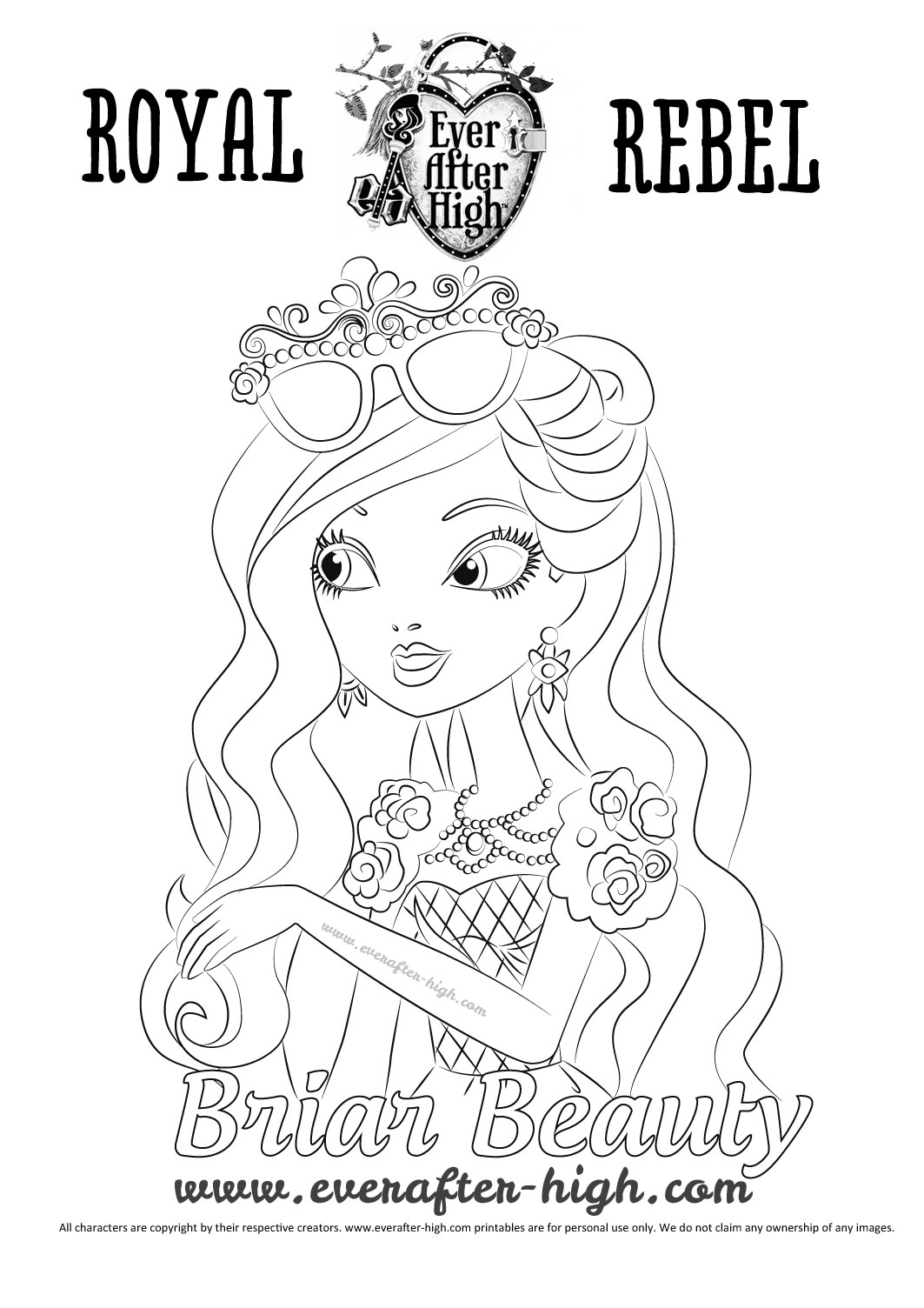 1063x1504 Briar Beauty Ever After High Coloring Pages