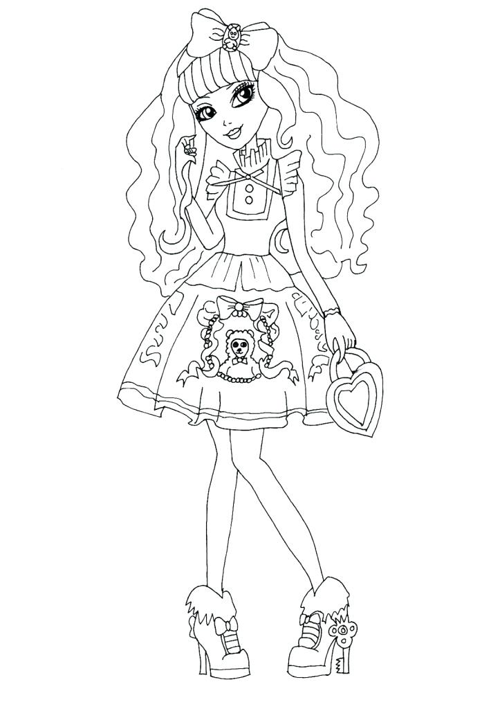 723x1024 Free Printable Ever After High Coloring Pages Raven Queen Briar