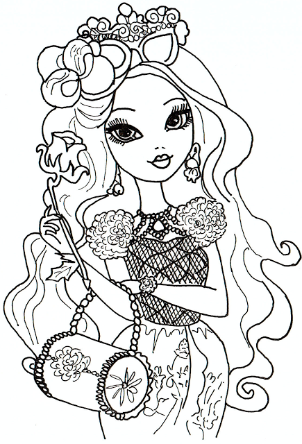 435x640 Lots Of Free Printable Ever After High Coloring Pages Briar