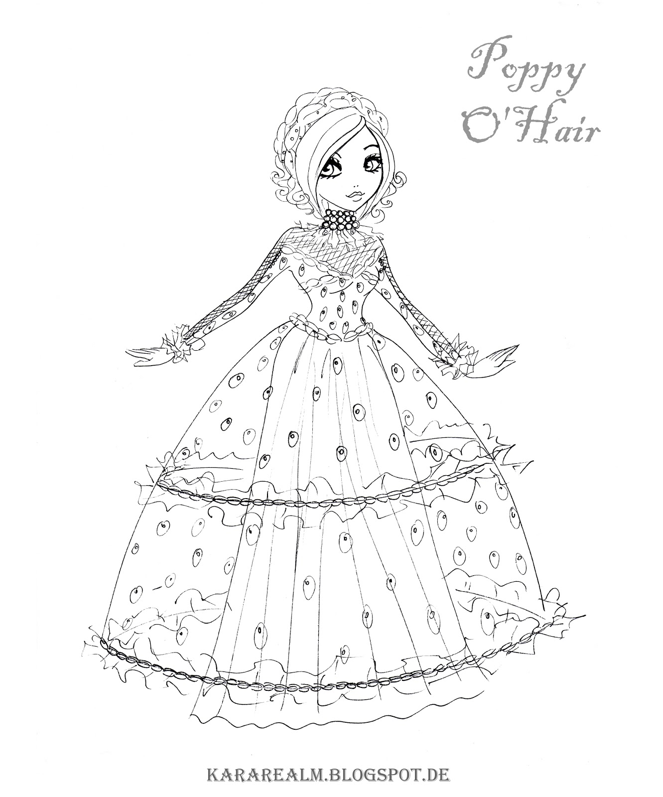 1331x1600 New Kara Realm Ever After High Coloring Pages