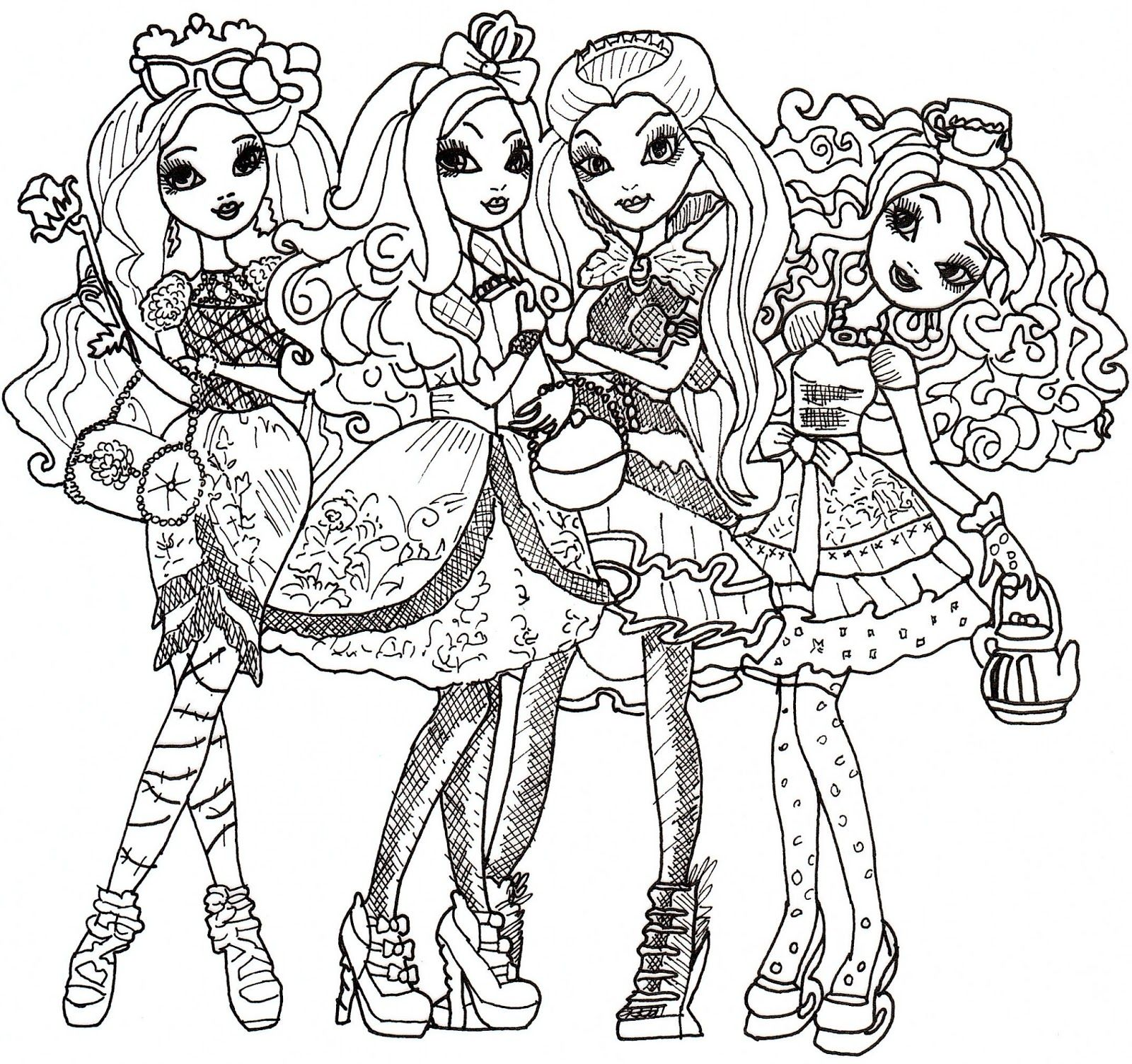 1600x1504 Coloring Coloring Pages Ever After High Online Coloring Pages