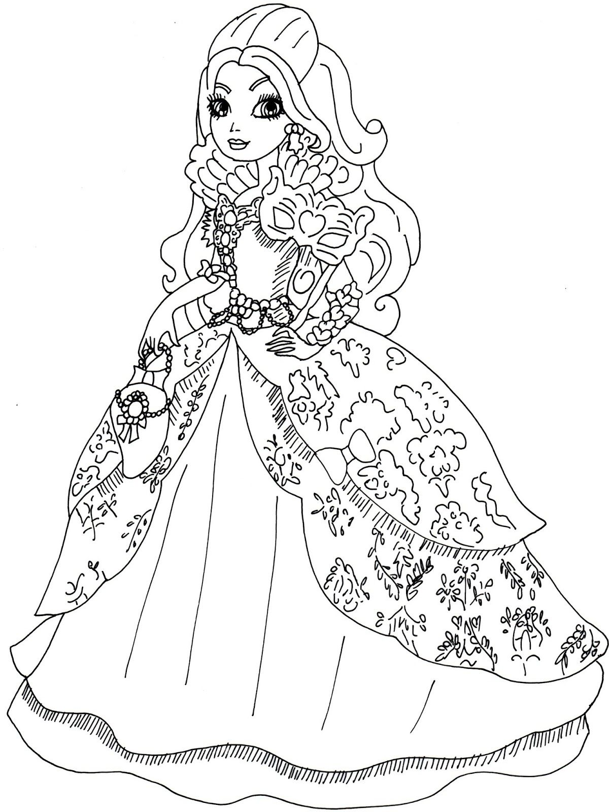 Ever After High Coloring Pages Cerise Hood At Getdrawings Free