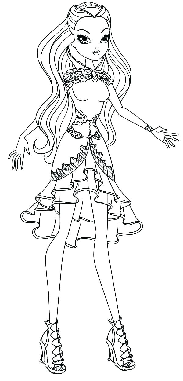 600x1247 Coloring Ever After High How To Draw Cerise Hood Ever After High