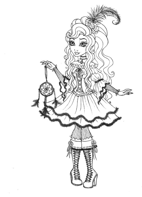 600x830 Cynthia Happily Ever After High Coloring Pages Cynthia Happily