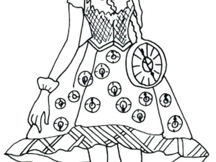 440x330 Ever After High Cerise Hood Coloring Pages Sheets Free Printable H