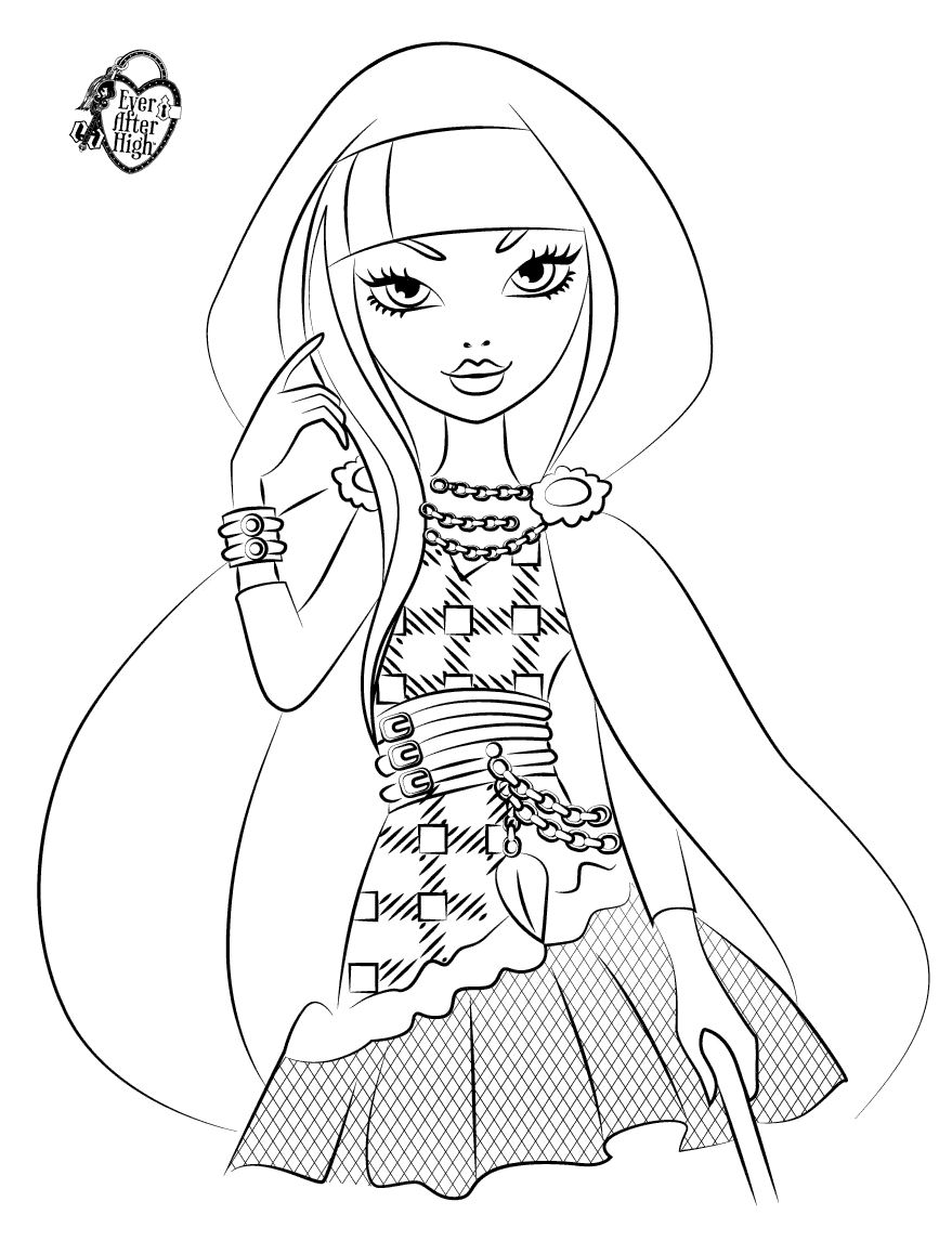 879x1146 Ever After High Coloring Pages Cerise