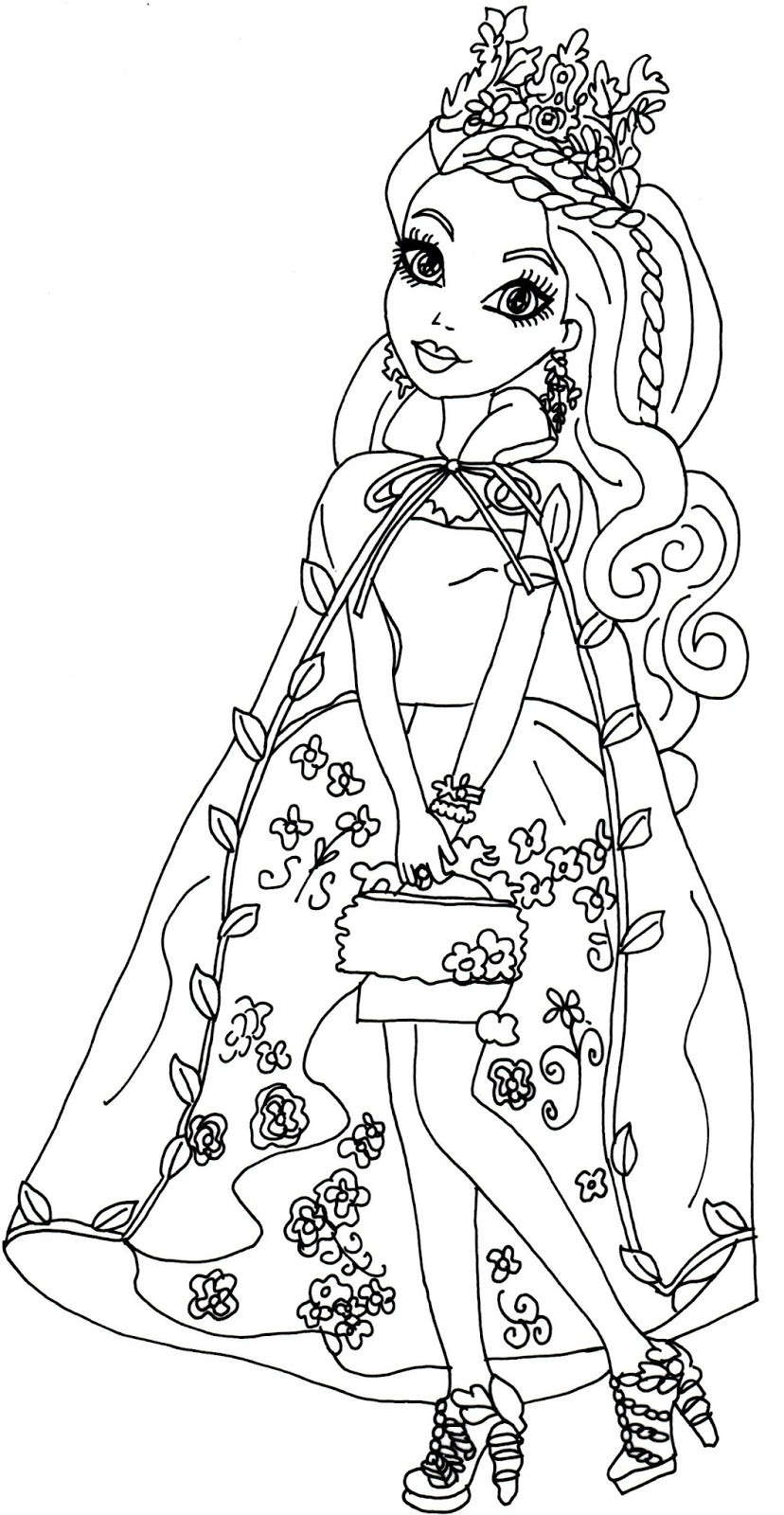 828x1600 Ever After High Coloring Pages Holly New Ever After High