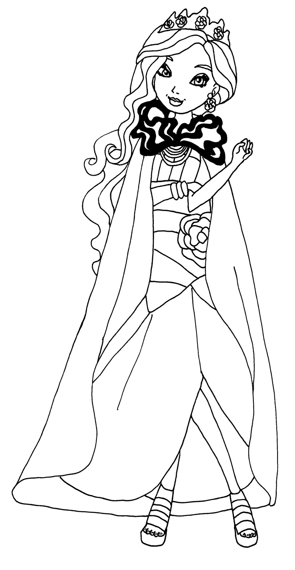 1024x1975 Ever After High Poppy O Hair Coloring Pages