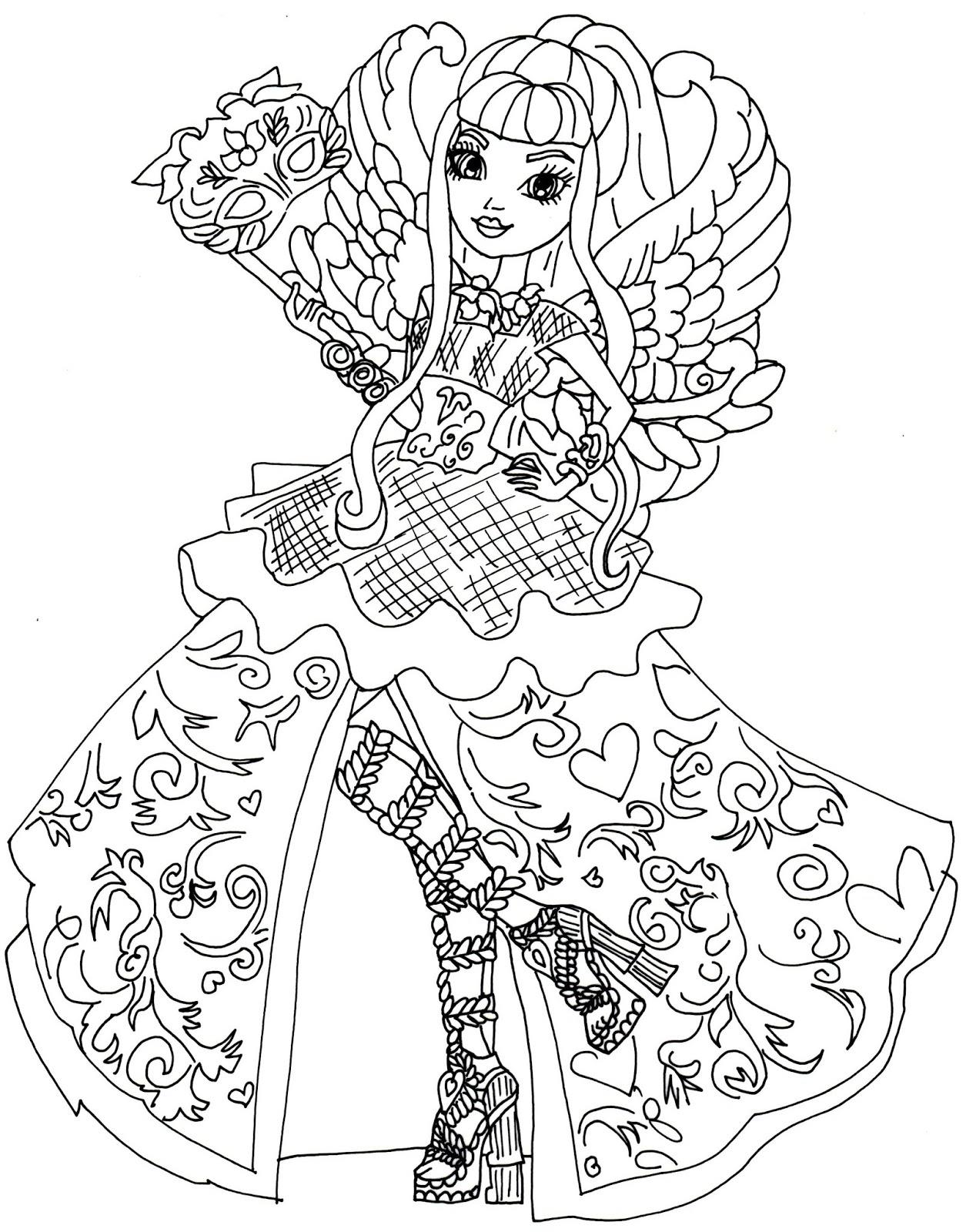 1255x1600 Ever After High Coloring Pages To And Print For Free To Print