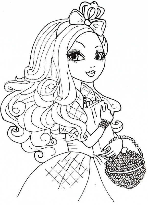 580x800 Top Ever After High Coloring Pages